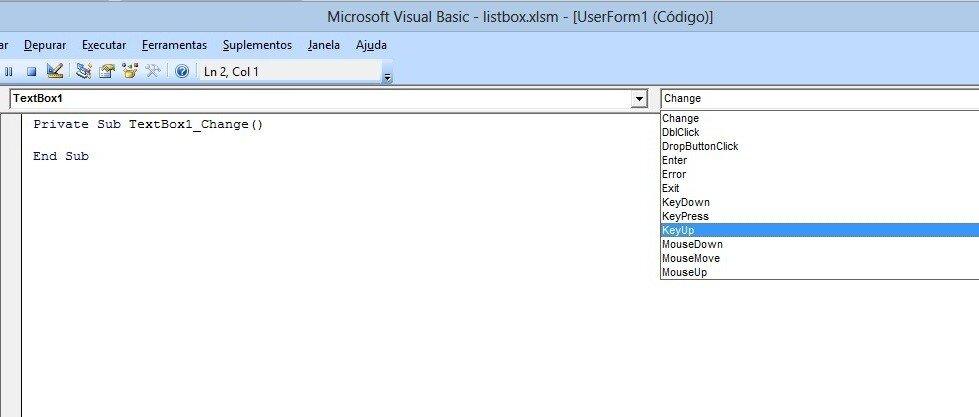 image5 Formulário de pesquisa avançada no listbox com Excel VBA