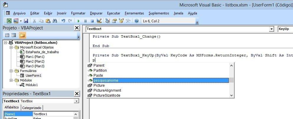 image6 Formulário de pesquisa avançada no listbox com Excel VBA
