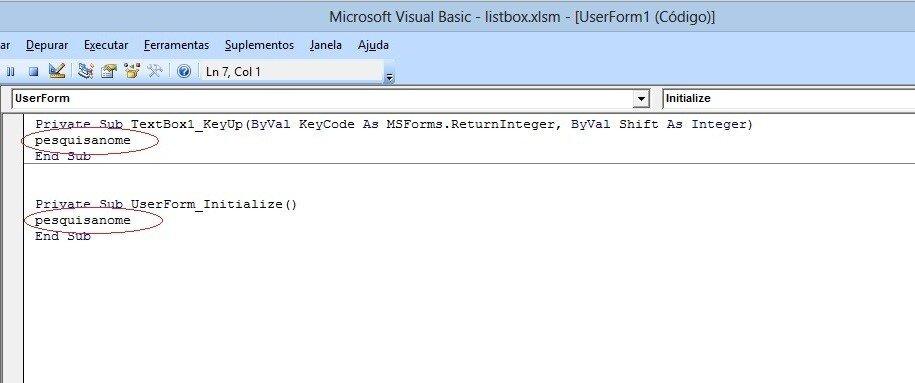 image8 Formulário de pesquisa avançada no listbox com Excel VBA