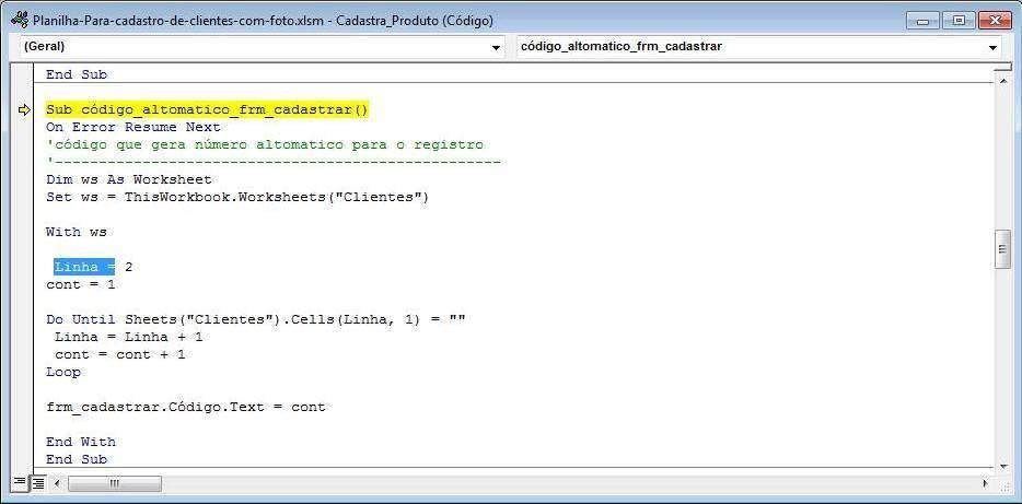 Planilha Excel Para Cadastro De Clientes Com Foto 1