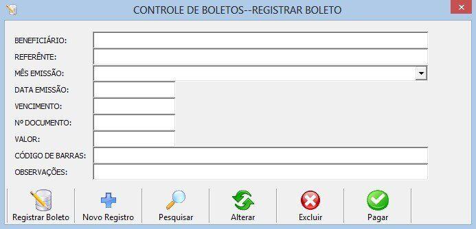 Gerenciador financeiro - Programa para controle de boletos