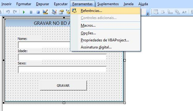 Excel access - Registrar dados do vba excel no Access referência cnn db access