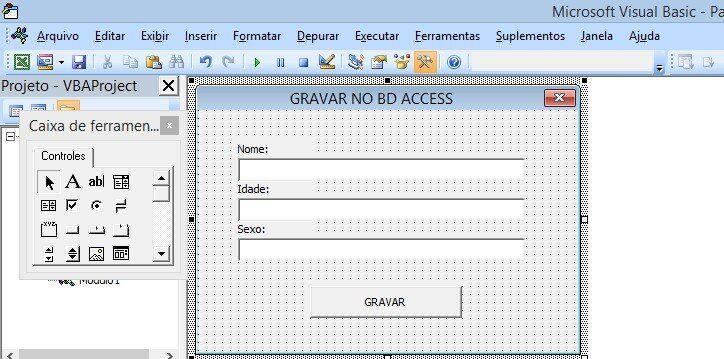 Excel access - Registrar dados do vba excel no Access FORM