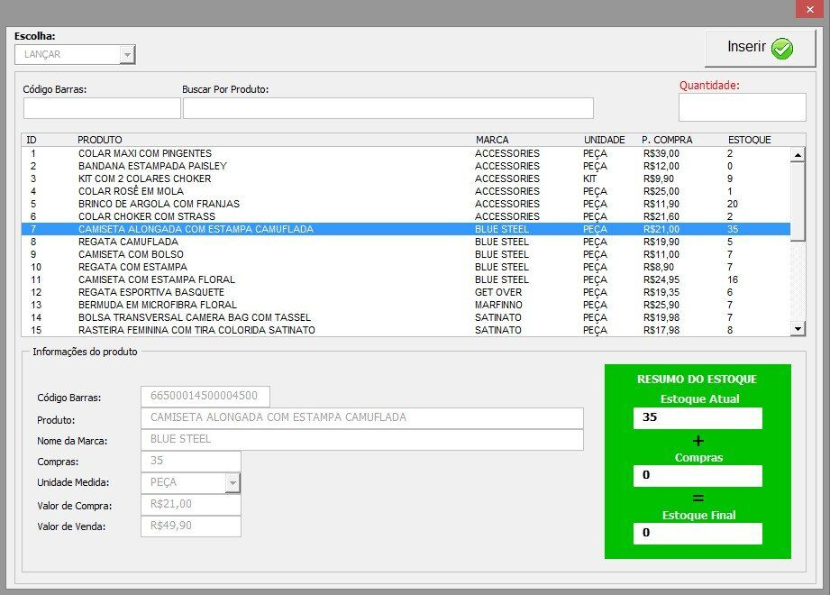 Controle de vencimento - cadastro de produtos e controle de estoque