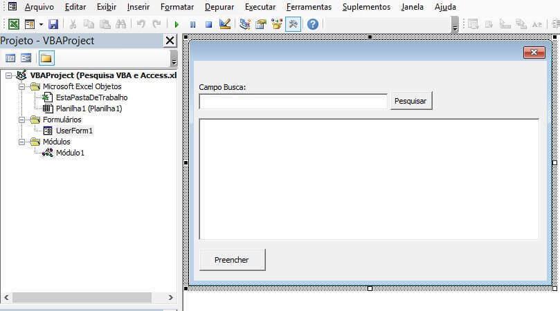 Pesquisa VBA - Pesquisar Dados De Uma Tabela Access img 2