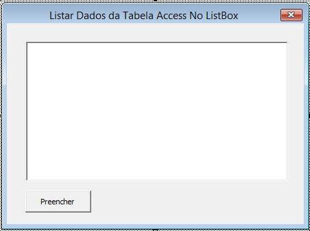 Listbox do vba - Preencher com dados do access img 3
